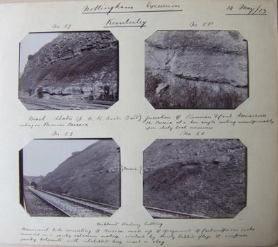 Kimberley railway cutting, Nottinghamshire, 1913,T.W. Reader Album.