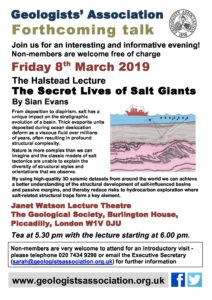 GA talk poster 2019 March – Geologists' Association